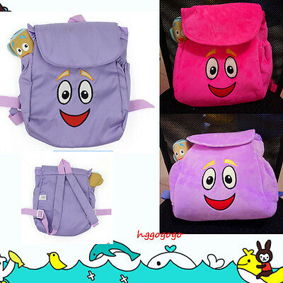 Dora Backpack Plush Map Bag Baby Girls school The Explorer Rescue Outdoor Gifts