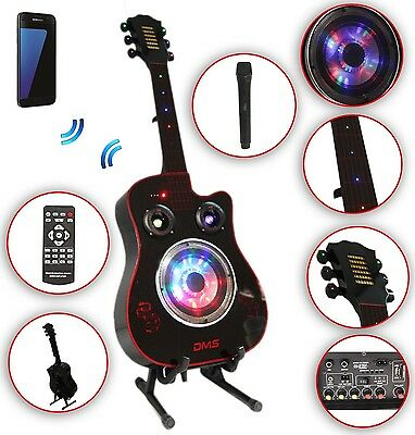 Karaoke Anlage mobile PA Lautsprecherbox Gitarre B USB SD MP3 Wireless LED DMS®
