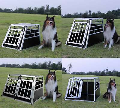 FoxHunter Aluminium Pet Car Crate Travel Cage Dog Puppy Cat Transport Kennel