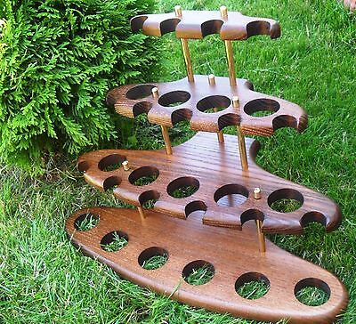 Display Stand Rack Hold for Pipe Tobacco Smoking Wooden handicraft Unique choice