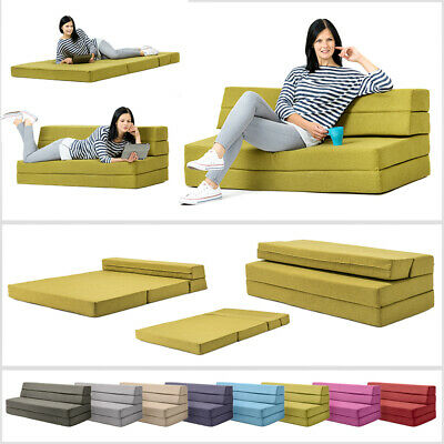 Amellia Fold Out Foam Guest Z Bed 2 Seater Folding Futon Double Sofa Mattress