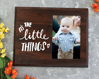 Its the Little Things Baby Picture Frame First Birthday Decorations