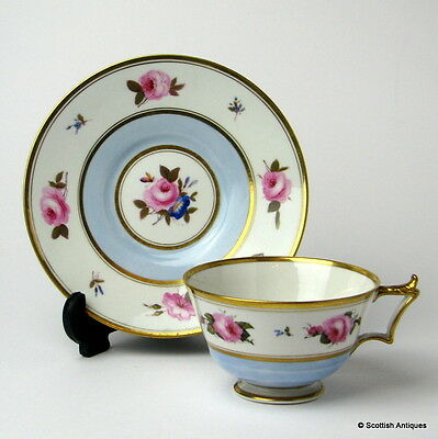 Flight Barr and Barr Worcester Porcelain Cup and Saucer c1830