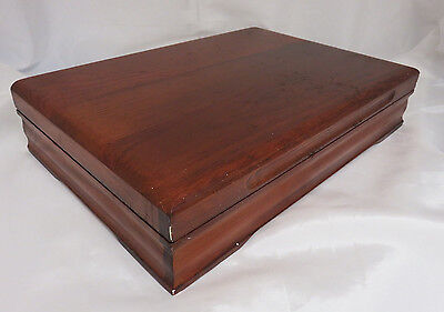 Vintage Tarnish Resistant Wood Silverware Flatware Wooden Storage Chest Box 30