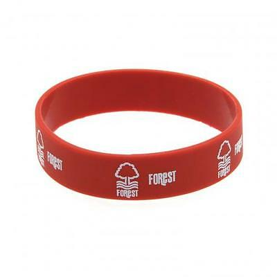 Official Licensed Football Product Nottingham Forest Silicone Wristband Red New
