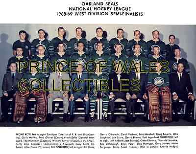 1969 Oakland Seals Team Photo 8X10