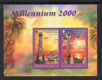 Soloman Islands MNH 2000 New Millennium - Lighthouses M/S