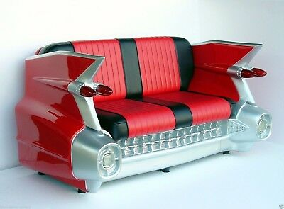 Car Sofa - 59 Cadillac Car Sofa - Red Car Sofa - Cadillac Car Sofa Life Size