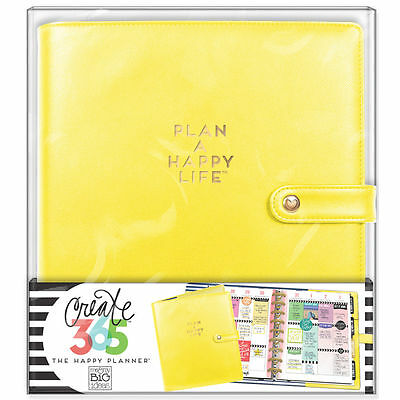 NEW MAMBI CLASSIC The Happy Planner- Classic Deluxe Cover, Sunshine Yellow