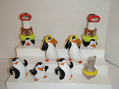 Penguins Of Madagascar  Hippo Submarine Squirt Penguin 8 Mcdonalds Toys #d