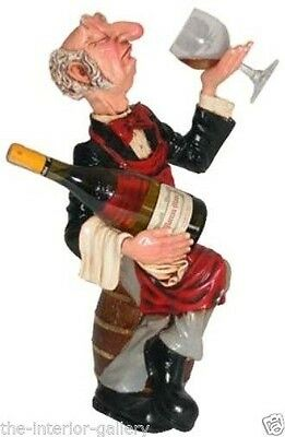 Connoisseur Statue - Connoisseur Waiter - Butler Statue - Wine and Glass Holder