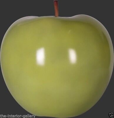 Apple Sculpture - Apple Figurine - Apple Decor - Green Apple Large Statue
