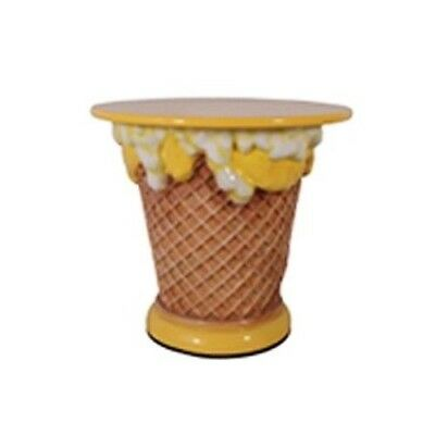 Ice Cream Table - Lemon Ice Cream Table - Restaurant Decor - Yellow Table