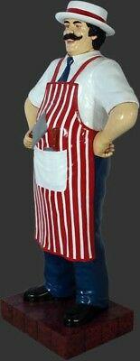 Butcher Statue 6FT - Life Size Butcher - Food Sign - Butcher Life Size 6 ft