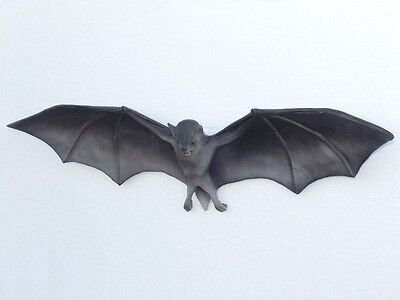 Bat Sculpture - Large Life Size Hanging Bat Statue Replica - Bat Figurine