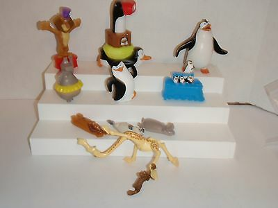 Madagascar Wacky Sliders King Julien Gloria Alex  Penguin 10 Mcdonalds Toys #b