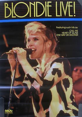 Rare Blondie Live 1980's Vintage Original Music Video Record Store Promo Poster