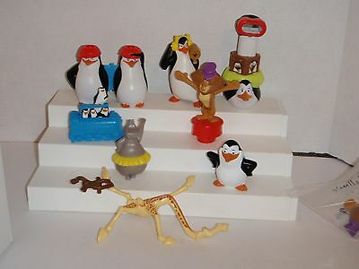 Penguins Of Madagascar Melman Giraffe Alex Lion Gloria 8 Mcdonalds Toys #c