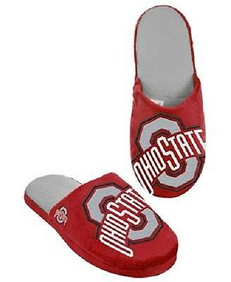 Ohio State Buckeyes Slippers Team Colors Logo NEW Two Toned House shoes BLG