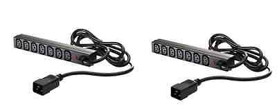 New & Boxed Dual 2 x HP AF500A IEC C20 - C13 7 Outlet Rack PDU Coupler Extender