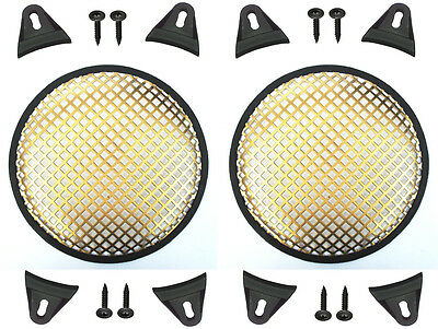 """2X Gold 12"""" inch Sub Woofer Speaker Mesh WAFFLE GRILLS Protective Covers VWLTW"""