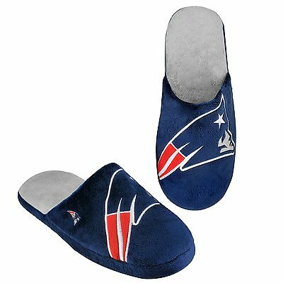 New England Patriots Slippers Team Colors Logo NEW Two Toned House shoes BLG