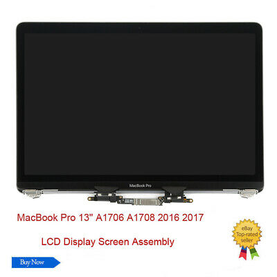 """For MacBook Pro 13"""" A1706 A1708 2016 2017 LCD Screen Display Assembly Gray USA"""