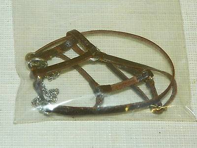 Hand Crafted Leather & Metal Bridle & Bit Hand Crafted for Breyer Adios Molds