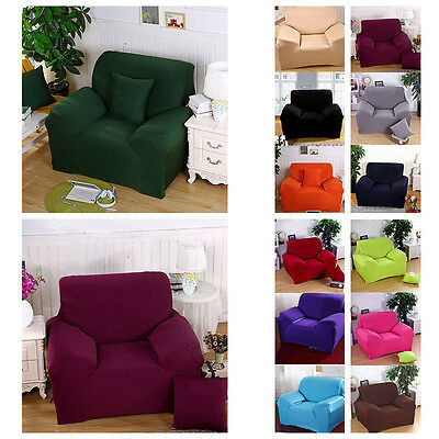 Stretch Solid Armchair Sofa Cover 1 Seater Protector Soft Couch Cover Slipcover