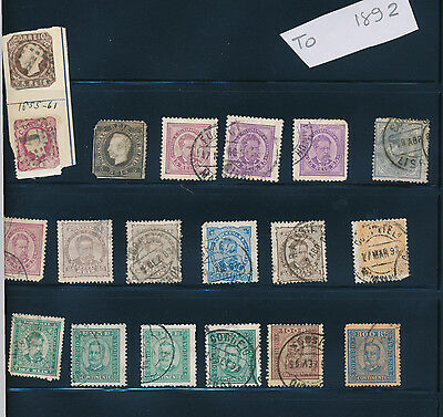 Portugal stamp collection 1855 - 1892 stamps mounted