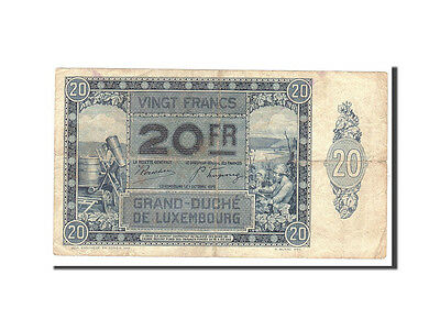 [#112633] Luxembourg, 20 Francs, 1929, KM:37a, 1929-10-01, EF(40-45)