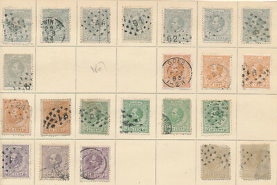Netherlands Holland stamp collection on album page from 1867