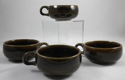 AMERICAN MODERN - Black CHUTNEY - 4x  CUP (only) - Minty! - Russel WRIGHT!