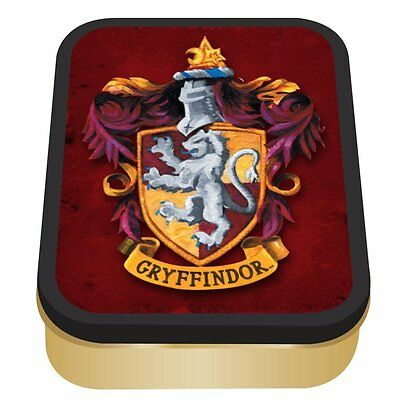 Harry Potter Metal Collectors Tin Box Gryffindor Crest Badge House Official
