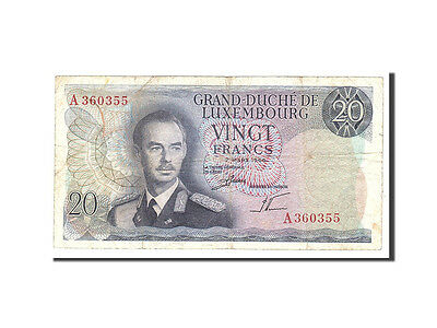 Luxembourg, 20 Francs, 1966, KM:54a, 1966-03-07, VF(20-25)
