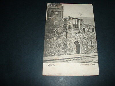 IRISH POSTCARD  FITSTEPHEN TABLET RPPC GALWAY EARLY 1900s VERY RARE