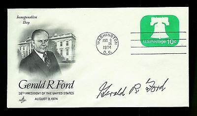 Gerald Ford Signed Autograph on 8/9/1974 Inauguration Day Cachet/Cancel