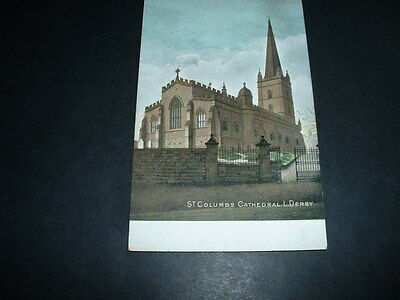 N.IRELAND POSTCARD  ST COLUMBS CATHEDRAL LONDON DERRY  EARLY 1900s