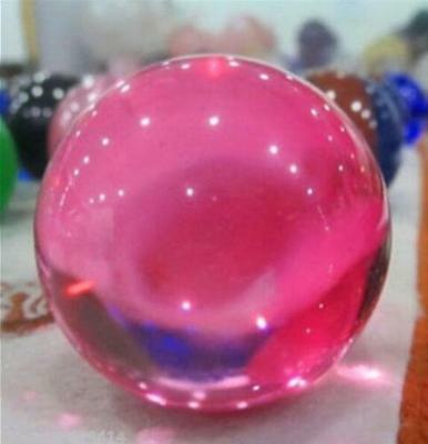 Rose Pink Magic Glass Crystal Healing Ball Sphere 40mm + Stand