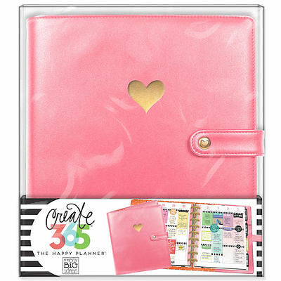 NEW MAMBI CLASSIC The Happy Planner- Classic Deluxe Cover Salmon Pink Organge