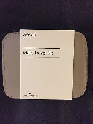 NEW SEALED CATHAY PACIFIC FIRST CLASS AESOP MEN'S Travel Kit Tan