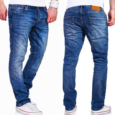 Jack & Jones Jeans Hose CLARK Regular Straight Fit Chinohose Blau/Grau NEU