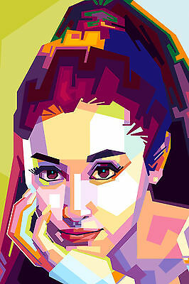 Ariana Grande Pop Colourful Abstract WALL ART CANVAS FRAMED OR POSTER PRINT