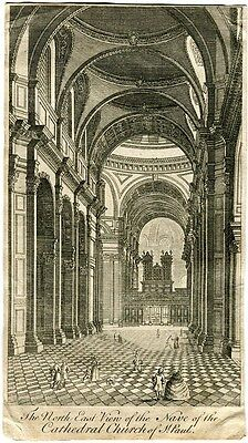 «The north east view of the nave of the Cathedral church of St. Paul»  B. Winkle