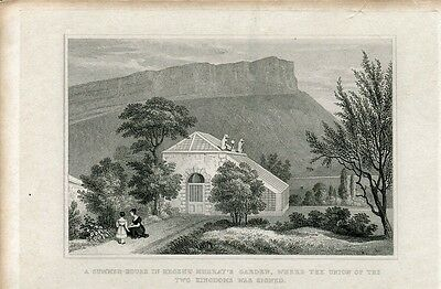 Escocia. A summer-house in Regent Murray's garden, grabado 1833