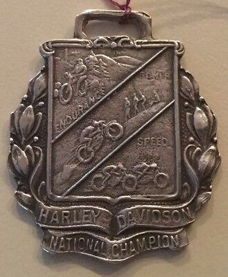 Vintage Harley Davidson Watch Fob 40's 50's Knucklehead Sterling Silver