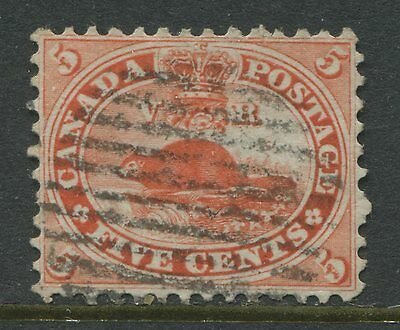 Canada 1859 5 cents vermilion used VF
