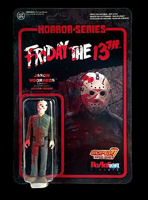 Nycc 2016 Funko Reaction Super 7 Bloody Jason Voorhees Exclusive Unpunched