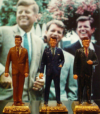 John, Robert, & Ted Kennedy Figurine Set - Add To Your Marx Collection
