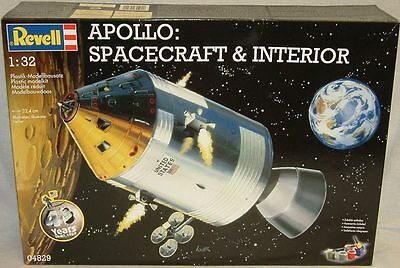 Space : Apollo Spacecraft & Interior 1/32 Scale Revell Model Kit Made In 2009
